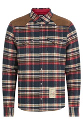 Dsquared2 Plaid Down Jacket With Suede Multicolor