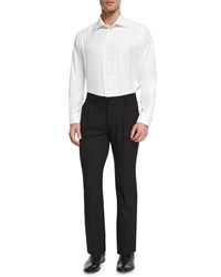 Red Valentino Pleated Front Slim Leg Pants Black Men's