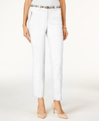 Jm Collection Cropped Belted Pants Only At Macy's Bright White
