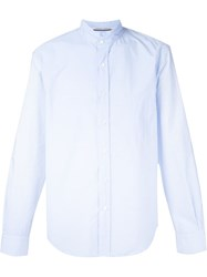 Andrea Pompilio 'Andreas' Frayed Collar Shirt Blue