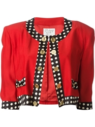 Moschino Vintage Metal Coins Detail Jacket Red