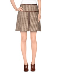 Prada Mini Skirts Camel