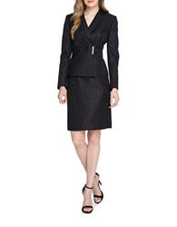 Tahari By Arthur S. Levine Embellished Two Piece Suit Set Black