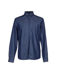 Geox Denim Shirts Blue