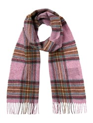 Barbour Country Check Scarf Purple