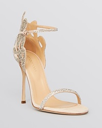 Sergio Rossi Ankle Strap Evening Sandals Matisse Filigree High Heel New Nude