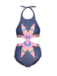 Mara Hoffman Knot Front Cut Out Swimsuit