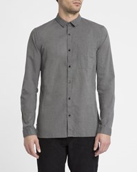 Nowadays Charcoal Cotton Blend Shirt Grey