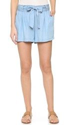 Splendid Chambray Shorts Light Wash