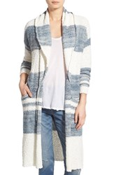 Women's Hinge Long Stripe Open Front Cardigan