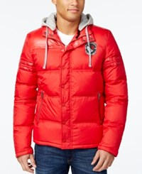 Buffalo David Bitton Men's Compact Puffer Jacket A Macy's Exclusive Style Red