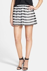 Soprano Stripe Mesh Skater Skirt Juniors White