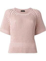 Diesel Black Gold Chunky Knit Sweater Pink And Purple