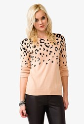 Forever 21 Wool Blend Cheetah Sweater
