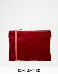 Jack Wills Leather Cross Body With Detachable Strap Redponycoralsuede