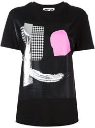 Mcq By Alexander Mcqueen Abstract Face Print T Shirt Black