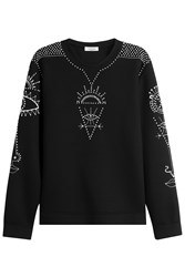 Valentino Embellished Sweatshirt Black