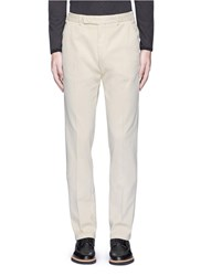 Armani Collezioni Regular Fit Cotton Chinos Neutral