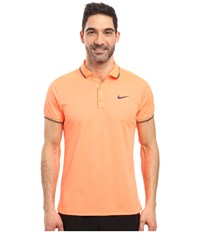 Nike Court Polo Bright Mango Purple Dynasty Men's Short Sleeve Pullover Orange