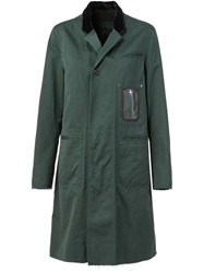 Undercover Single Breasted Coat Green