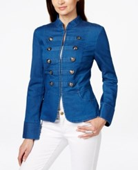 Inc International Concepts Denim Military Jacket Only At Macy's