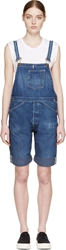 Levi's Blue Bib And Brace Youth Wear Short Overalls