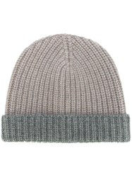 Eleventy Ribbed Beanie Nude And Neutrals