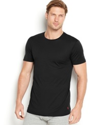 Polo Ralph Lauren Men's Supreme Comfort Crew Neck T Shirt 2 Pack Polo Black