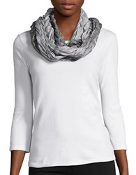 Collection 18 Mystiq Pleated Infinity Scarf Black