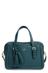 Kate Spade New York Orchard Street Elowen Leather Satchel Green Emerald Forest