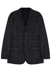 Oscar Jacobson Maurice Navy Quilted Shell Jacket