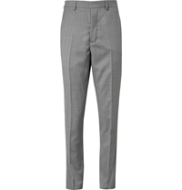 Ami Alexandre Mattiussi Grey Slim Fit Wool Suit Trousers Gray
