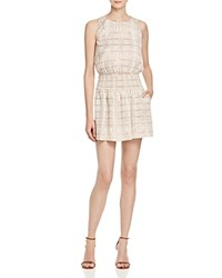 Joie Lawska Ikat Print Silk Dress Sandshell