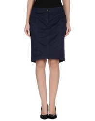 Siviglia Knee Length Skirts Blue