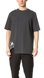 3.1 Phillip Lim Short Sleeve Tee With Combo Panel Soft Black