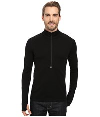 Smartwool Phd Light Zip T Black Men's Long Sleeve Pullover