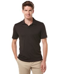 Perry Ellis Big And Tall Short Sleeve Open Polo Shirt Dark Brown