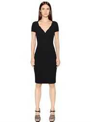 Emporio Armani Viscose Blend Jersey Pique Dress
