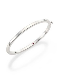 Roberto Coin 18K White Gold Oval Bangle Bracelet