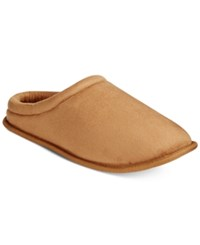 Club Room Men's Faux Suede Clog Slippers Only At Macy's Tan