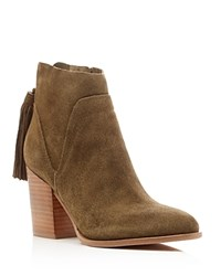 Marc Fisher Ltd. Janay Tassel High Heel Booties Olive Green