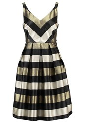 Louche Etheal Cocktail Dress Party Dress Black Gold