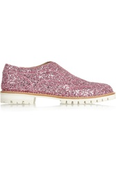 L'f Shoes Gipsy Ilga Glitter Finished Leather Brogues Pink