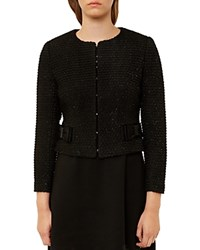 Ted Baker Qutee Sparkly Boucle Jacket Black