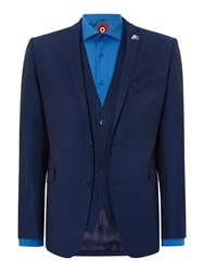 Lambretta Plain Slim Fit Suit Blue