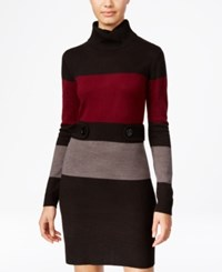 Amy Byer Bcx Juniors' Colorblocked Sweater Dress Black