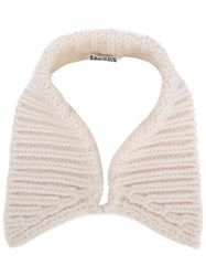 Arthur Arbesser Cable Knit Collar White