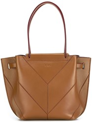 Tod's Drawstring Tote Bag Nude And Neutrals