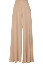 The Row Anissa Washed Silk Wide Leg Pants Mushroom