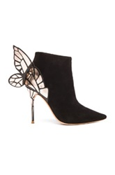 Sophia Webster Chiara Suede Booties In Black Metallics